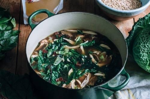 Organic Chicken and Farro Soup