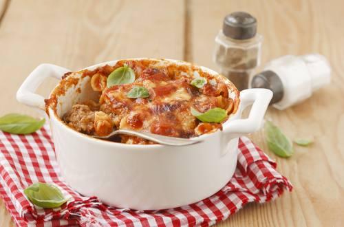 Knorr - Tomaten-Eiermuschelauflauf mit Faschiertem
