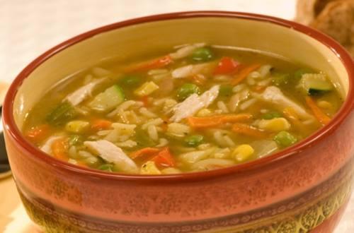 Soupe au Poulet, Riz et Légumes