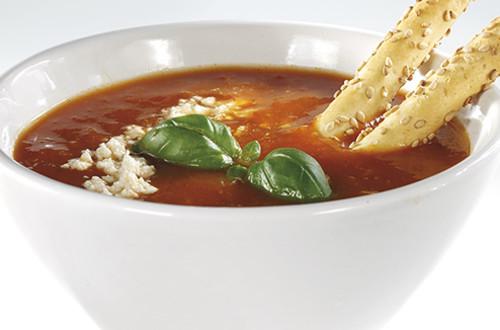 Tomatensoep met feta