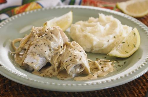 Rollitos de pescado con hierbas