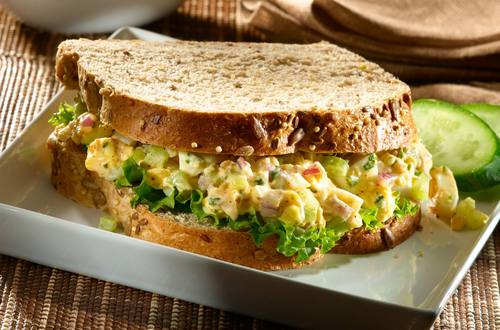 Smokin' Egg Salad Sandwiches
