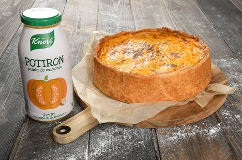 Quiche Lorraine à la Soupe Knorr® « comme à la maison » Potiron pointe de Muscade