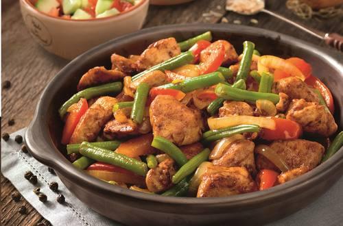 Lekker veel groenten met de Kip Piri Piri van Knorr