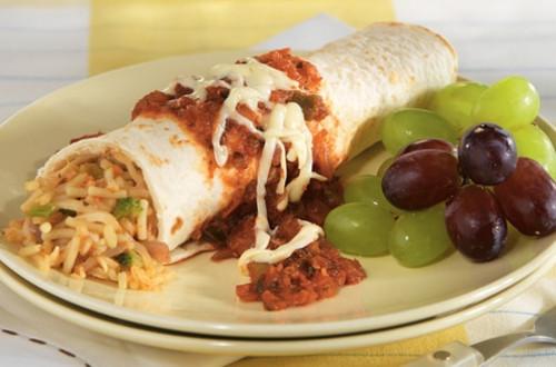 Cheesy Rice Enchiladas