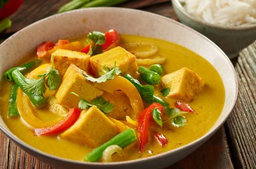 Thaise groene curry met tofu