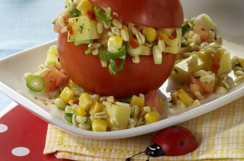 Knorr - Zartweizen-Salat in der Tomate