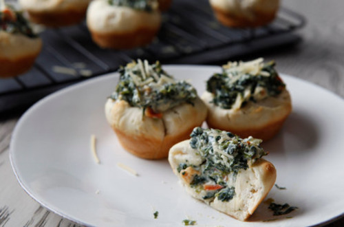 Hot Spinach Dip Cups