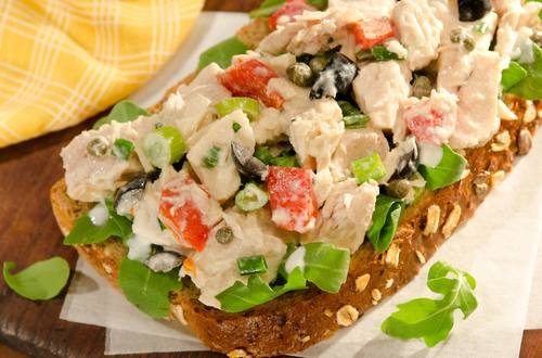 Open-Faced Mediterranean Tuna Sandwiches