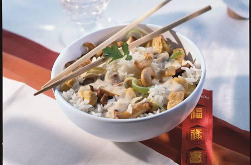 Reispfanne mit Huhn und Cashew