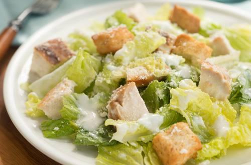 Creamy Caesar Salad with Chicken