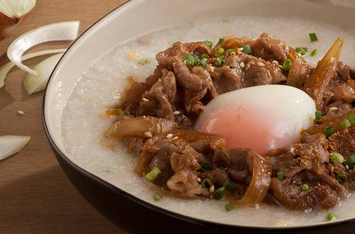 โจ๊กหน้าเนื้อญี่ปุ่น