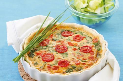 Knorr - Quiche mit Tomaten und Blattspinat