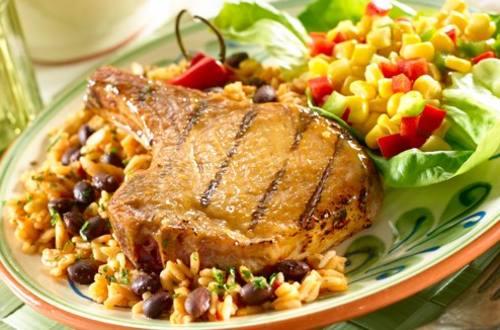 Latin American BBQ Pork Chops