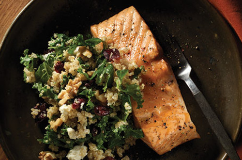 Roasted Salmon with Kale & Quinoa Salad
