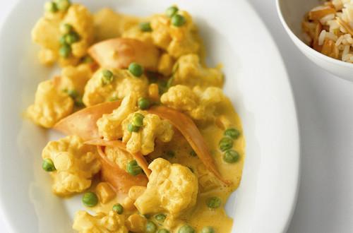 Gemüse-Curry mit Mandelreis