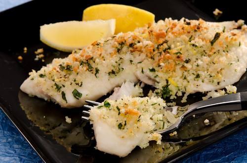 Garlic Crusted Tilapia