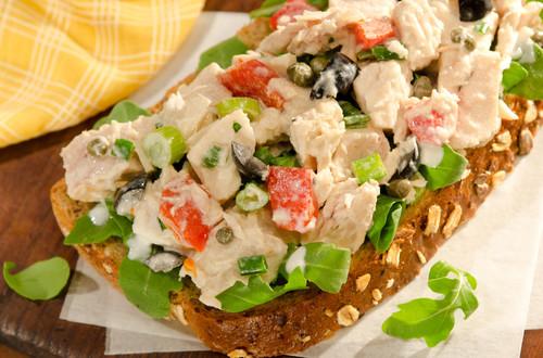 Open-Faced Mediterranean Tuna Sandwiches