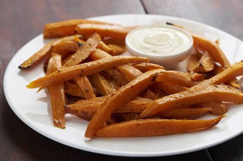 Süßkartoffel-Ofenpommes