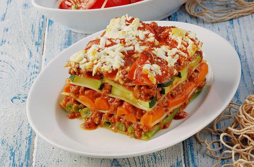 Kuerbis-Zucchini Lasagne