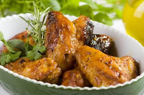 Куриные крылышки с медом и горчицей