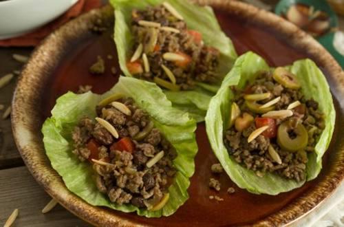 Beef Picadillo Lettuce Wraps