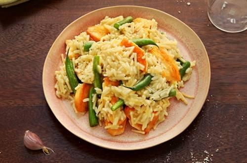 Creamy Garlic Parmesan Chicken & Rice