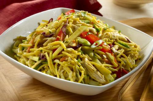Salade de Nouilles Asiatique au Cari