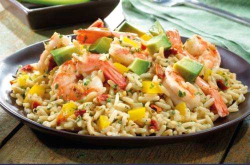 Shrimp & Queso Rice