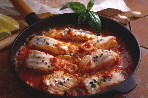 Fisch alla Pizzaiola Ausschnitt
