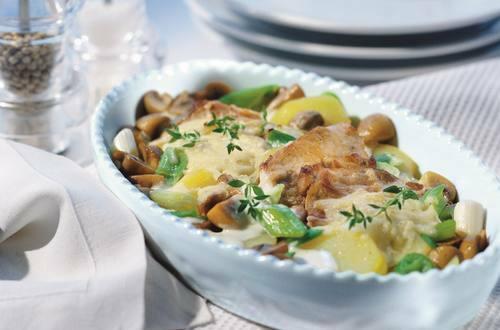 Knorr - Überbackene Schnitzel mit Gemüse