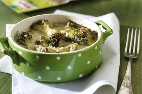 Gratin de brocolis à la sauce fromage