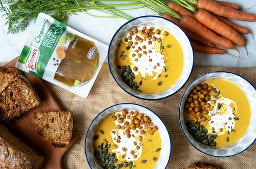 Organic Carrot and Chickpea Soup