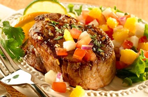 Mexican Seared Steaks with Jicama Salsa
