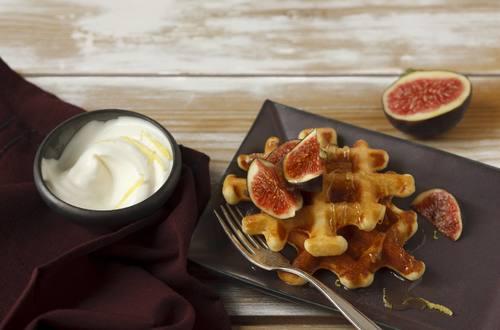 Knorr - Zitronenwaffeln mit Honig und Feigen
