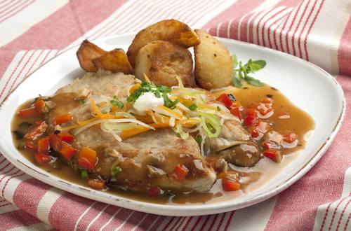Knorr - Schweinsschnitzel in feiner Wurzelsauce
