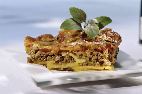 Knorr - Hackfleischkuchen mit Kartoffeln und Tomaten
