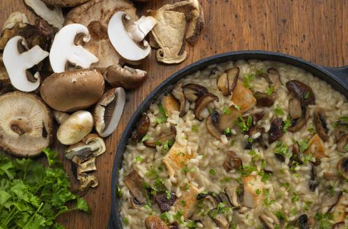 gluten free chicken and mushroom risotto