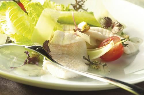 Caesarsalade met scharfiletjes