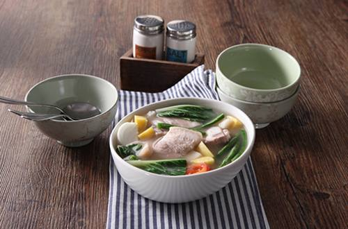 Sinigang na Liempo at Kamote sa Gata Recipe