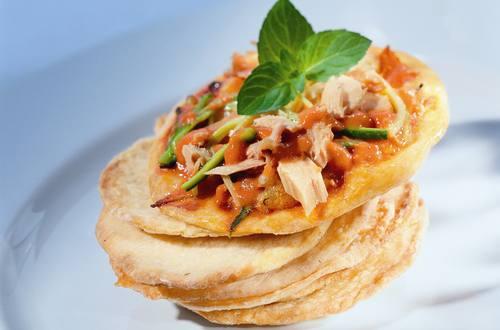 Thunfisch-Zucchini-Pizza