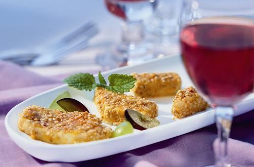 Sesam-Käse-Häppchen