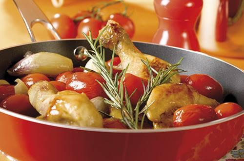 Sauté de poulet aux tomates cerises