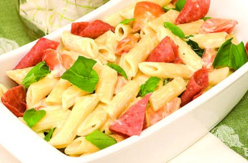 Basil Cream Penne Recipe