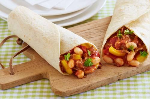Wraps mit Chili con Carne Ausschnitt