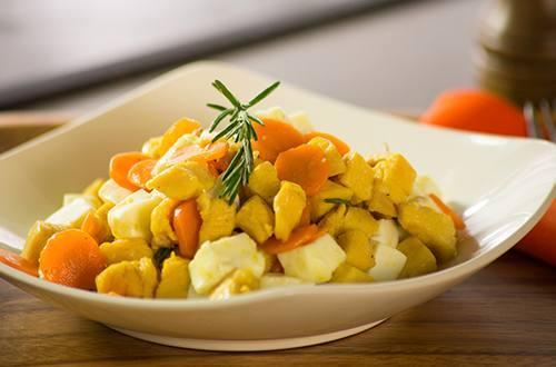 Pechuga de Pollo con Zanahoria y Queso al Romero