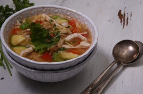 Chicken Rice Vegetable Soup