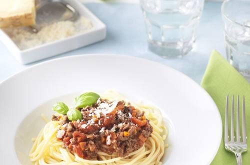 Les spaghettis à la bolognaise