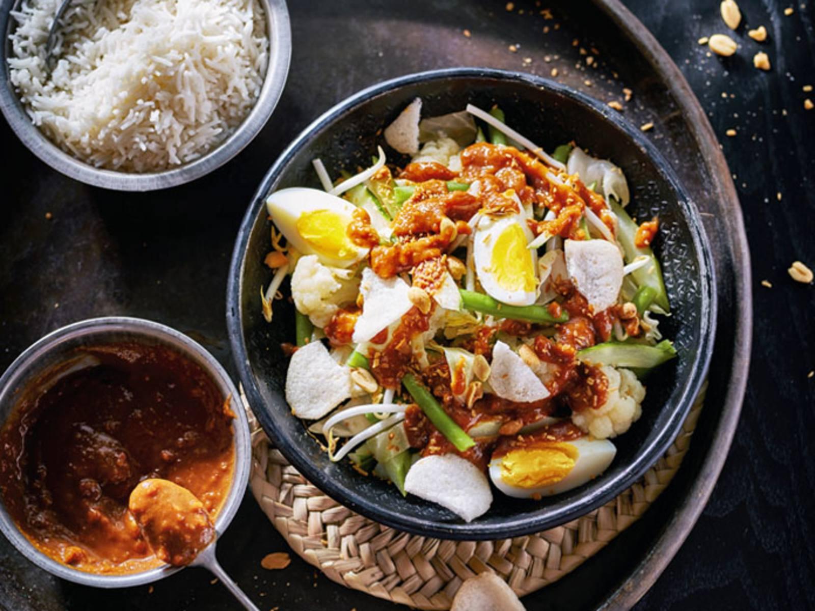 Gado gado Indonesische groenten met ei
