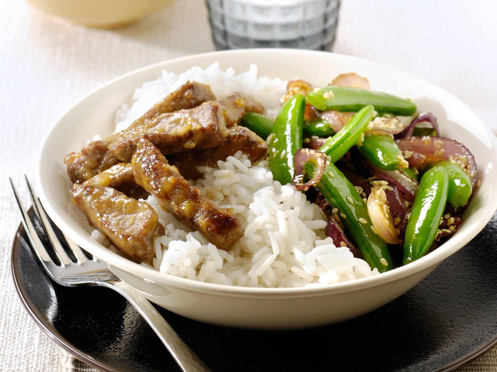 Aziatische vleesreepjes met Lemongrass Chili woksaus